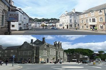 Tavistock and Okehampton town centres